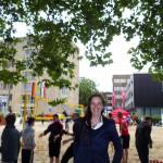 Beach-Volleyball auf dem Rathaus-Vorplatz