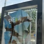 Werbetafel im Auftrag der Stadt - Lindenstraße/Carl-Miele-Straße