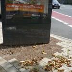Werbetafel im Auftrag der Stadt - Stohlmann Platz, Innenstadt