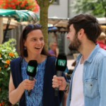 Das Bild zeigt Anke Knopp im Interview mit Daniel Krestovsky von GT TV.