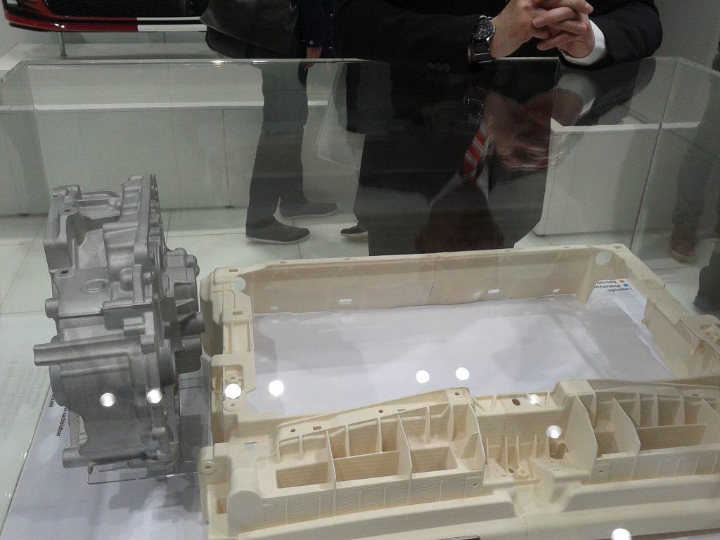Das Foto zeigt ein Werkstück aus dem 3-D-Drucker.
