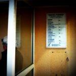 Das Foto zeigt eine Wand, an der früher mal ein Telefonautomat hin.