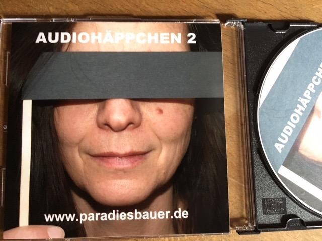 Das Foto zeigt das Cover der CD Audiohäppchen.