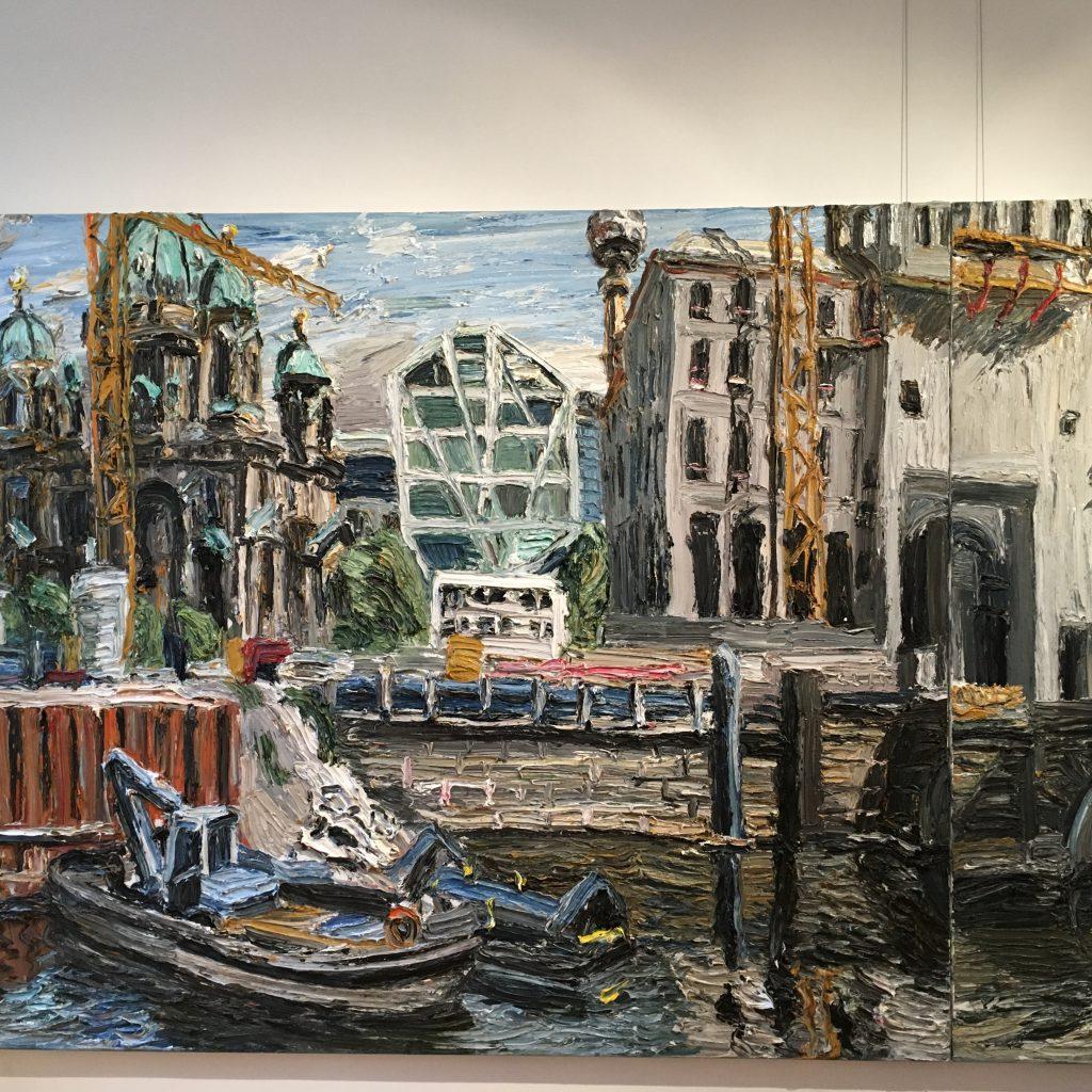 Das Foto zeigt ein Gemälde von Christopher Lehmpfuhl