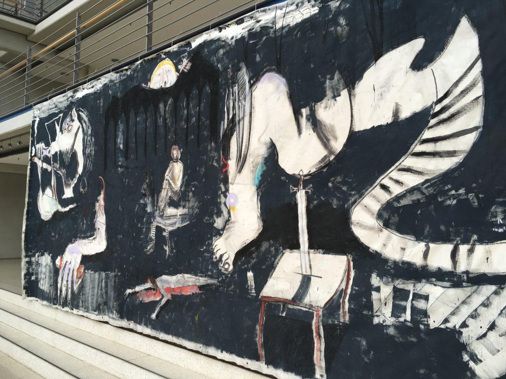 das Foto zeigt ein Wandgemälde.